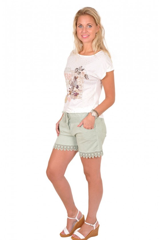 Sweat shortje korte broek musthave army