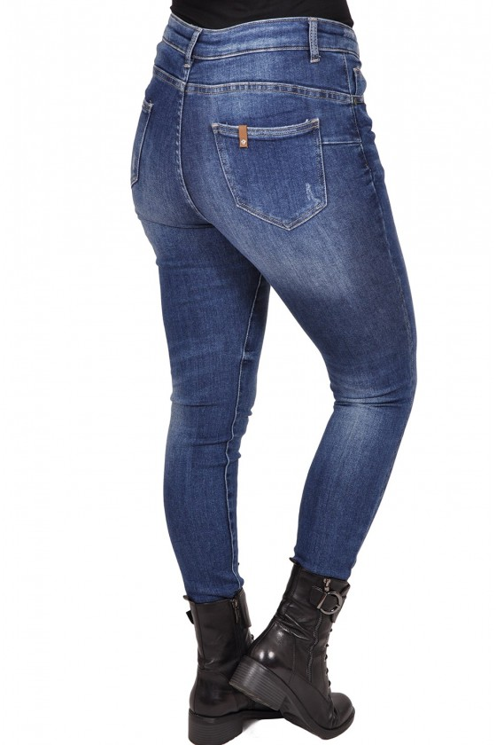 Stretch jeans van Monday ink blue washing