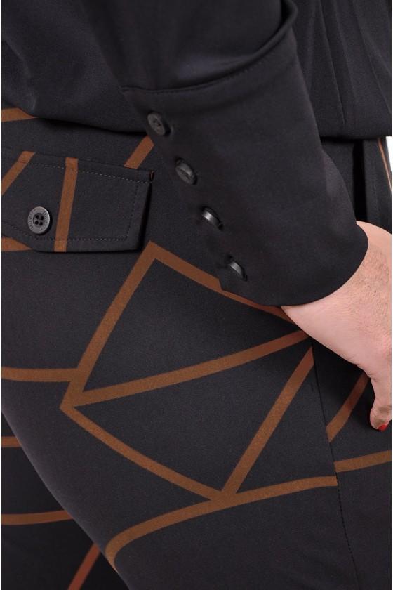 Travelstof blouse/top Bailey van Daelin zwart