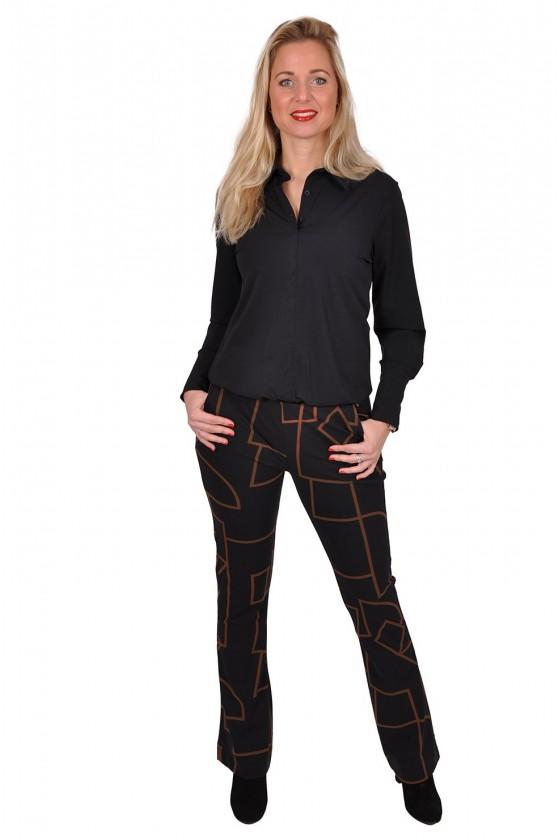 Travelstof blousetop Bailey van Daelin zwart