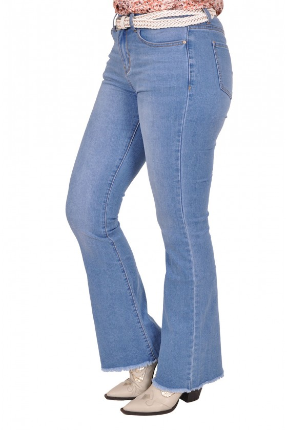 Flared stretch jeans met ravels Cindy ITALIA MODA