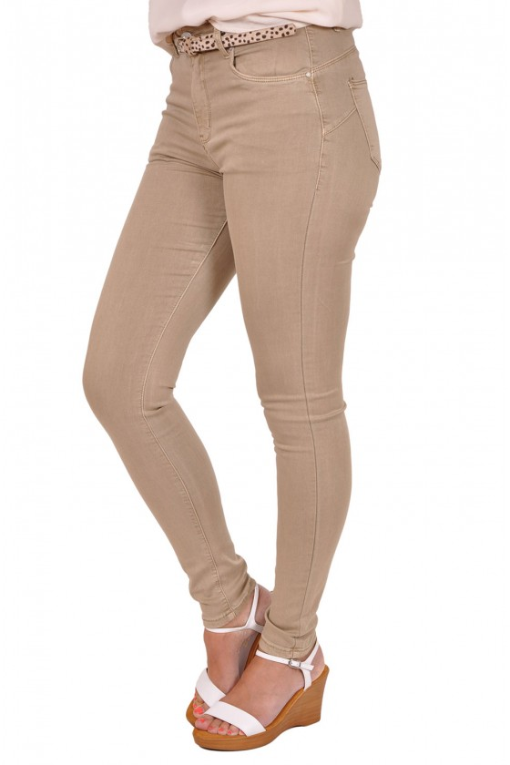 Norfy push op stretch jeans beige NORFY