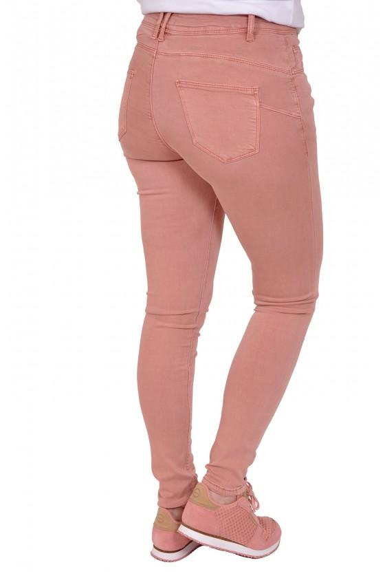 Norfy push up stretch jeans roze