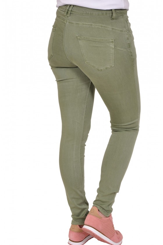 Norfy push up stretch jeans groen
