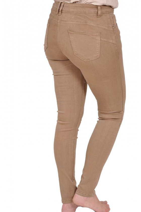 Norfy push up stretch jeans taupe