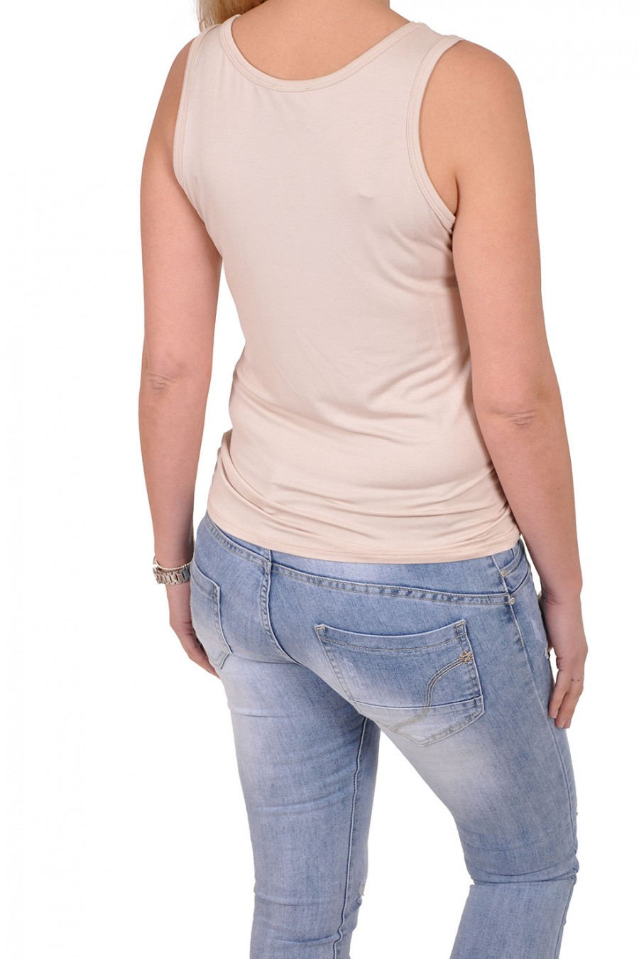 Basic topje want-it beige Italia Moda