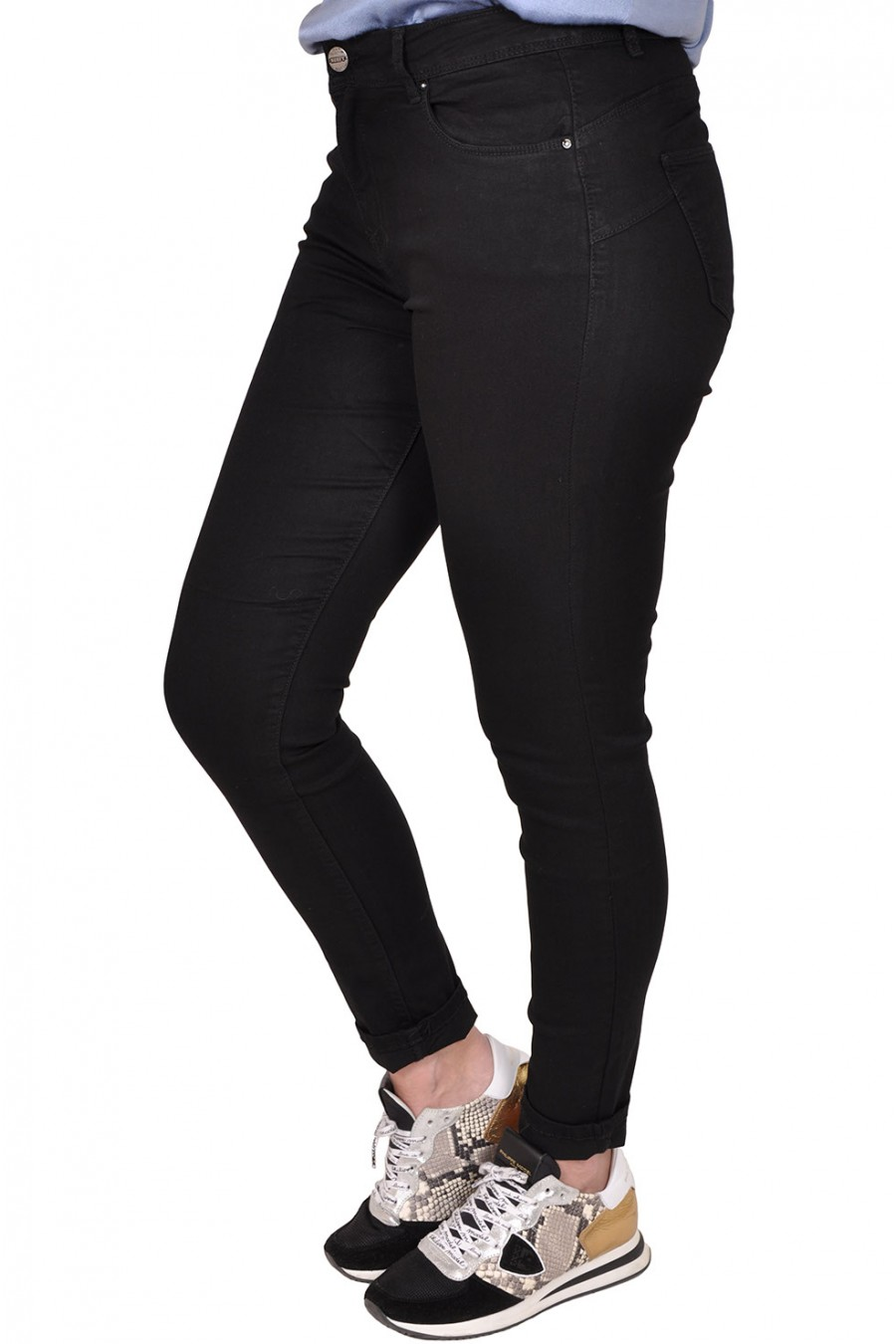 Norfy push up stretch jeans zwart Norfy