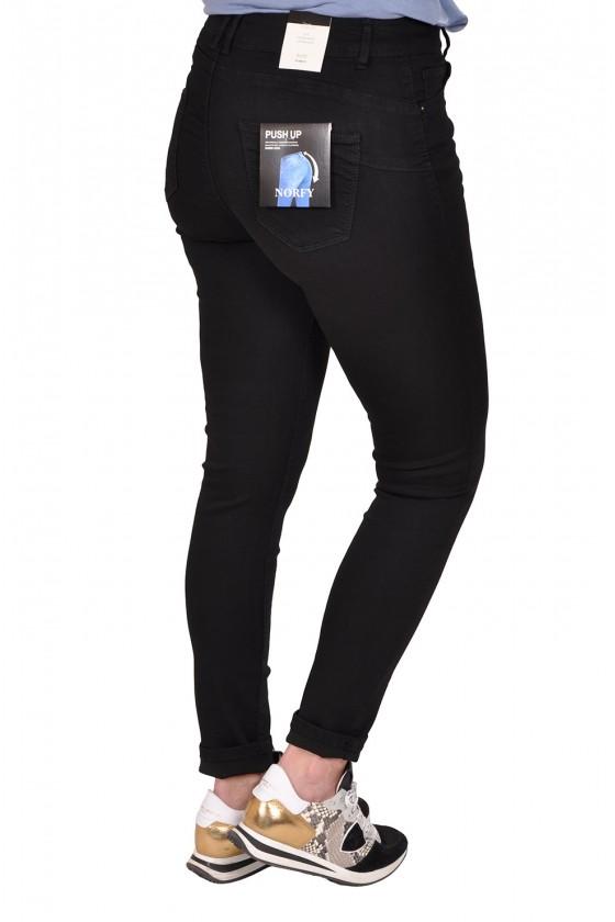 Norfy push up stretch jeans zwart