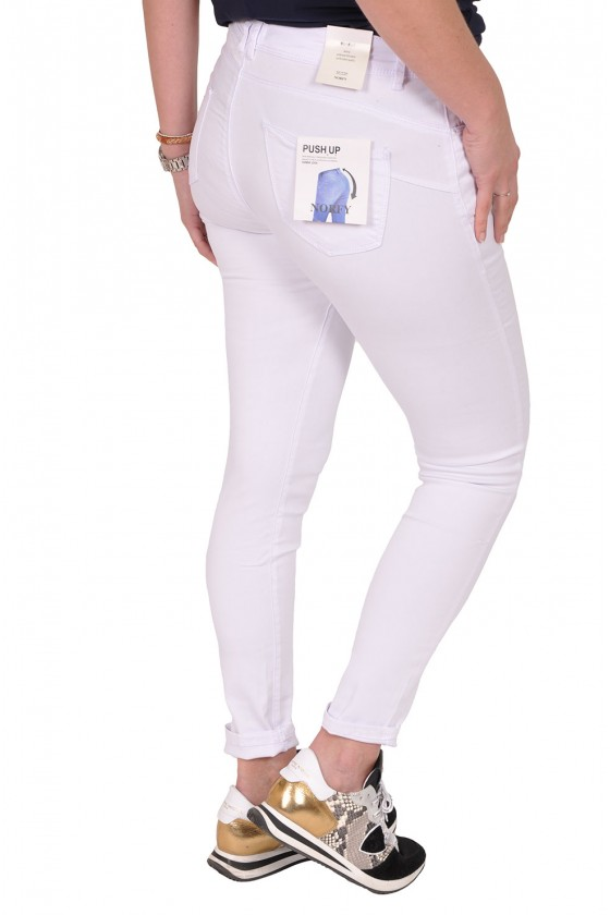 Norfy push up stretch jeans wit
