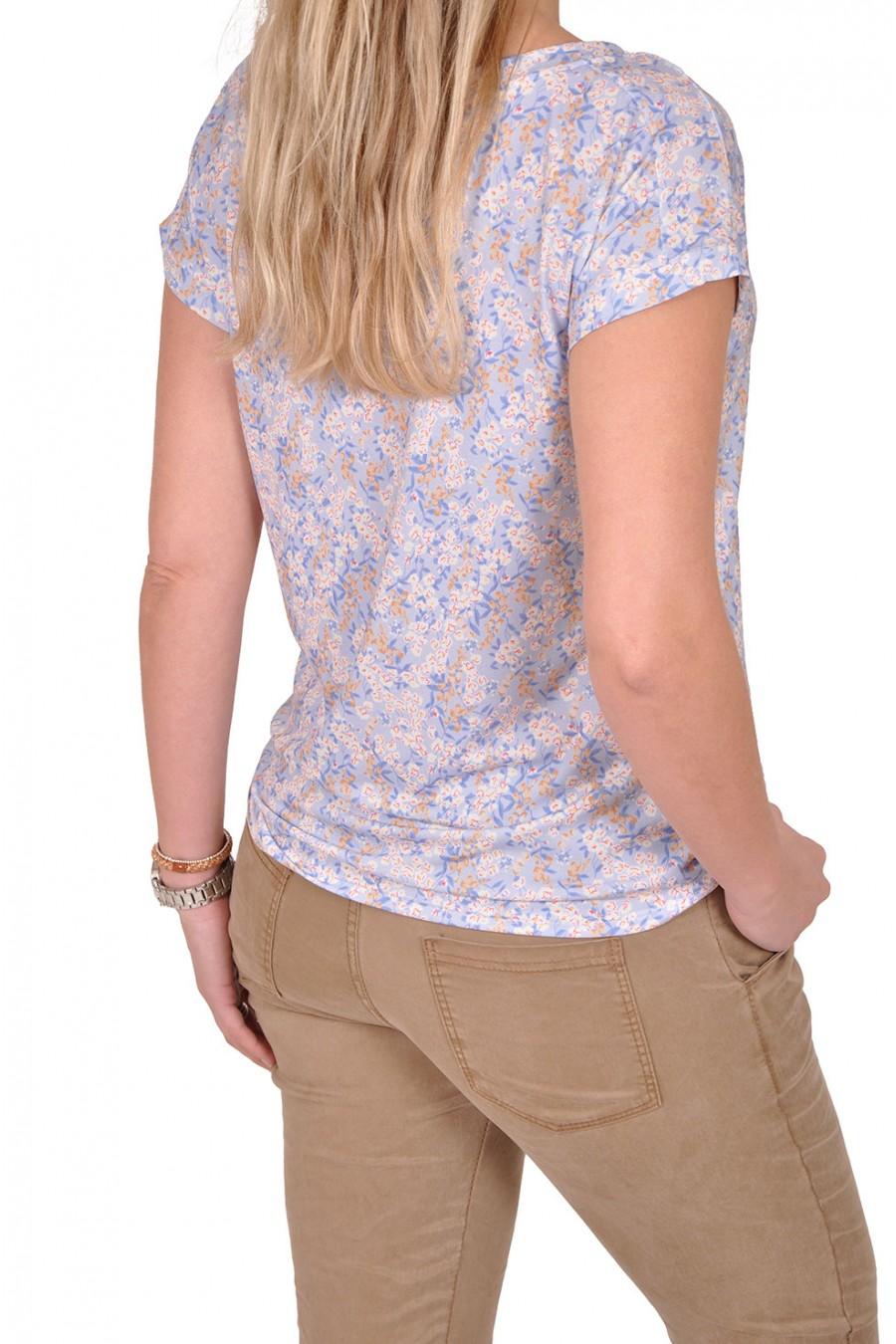 Gemma Ricceri top little flower blauw Gemma Ricceri