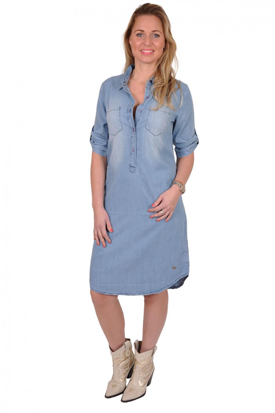Denim jurk van tencel Eva Eva Fashion