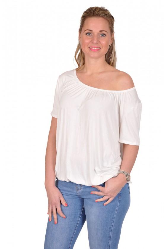 Basic korte mouwen top always good off white Italia Moda