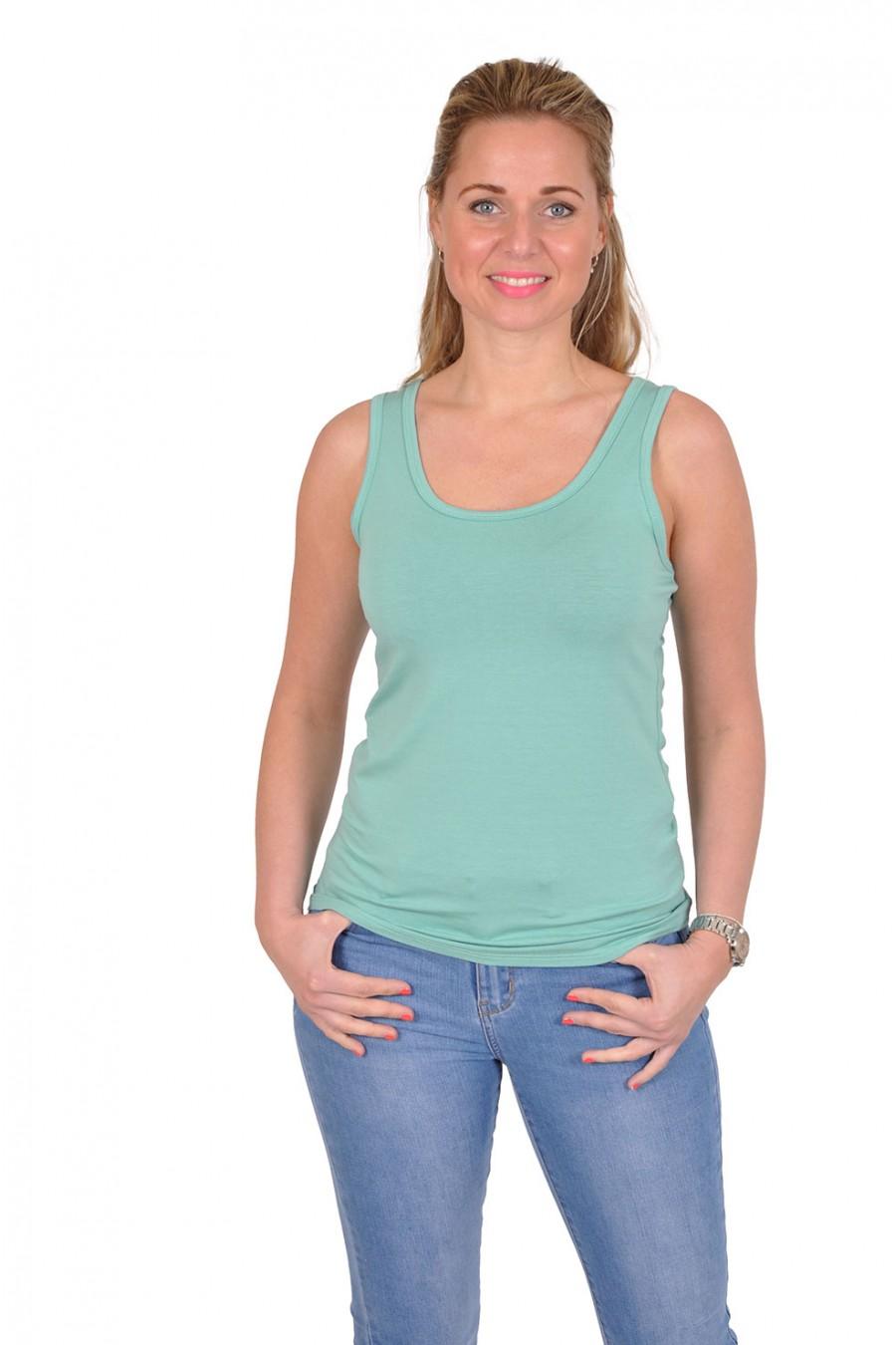 Basic topje want-it turquoise Italia Moda