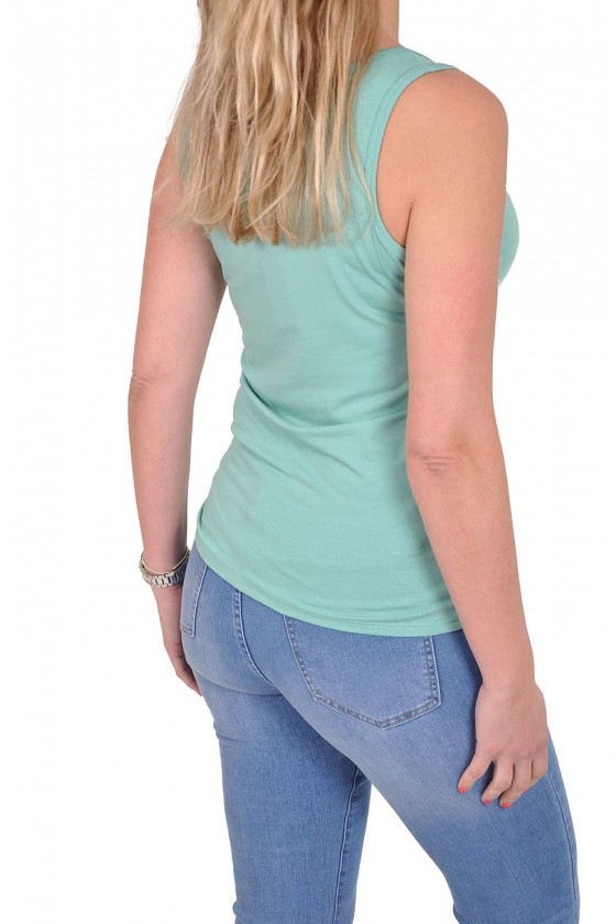 Basic topje want-it turquoise