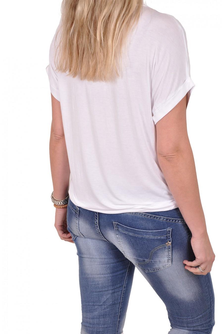 Silk touch v-hals top Gemma Ricceri wit Gemma Ricceri
