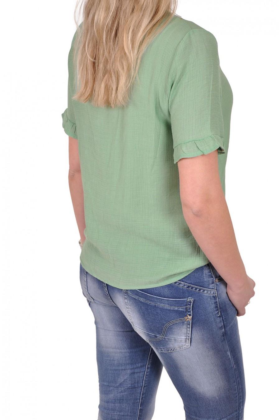 Vera Jo blouse met v-hals Yentl groen Vera Jo
