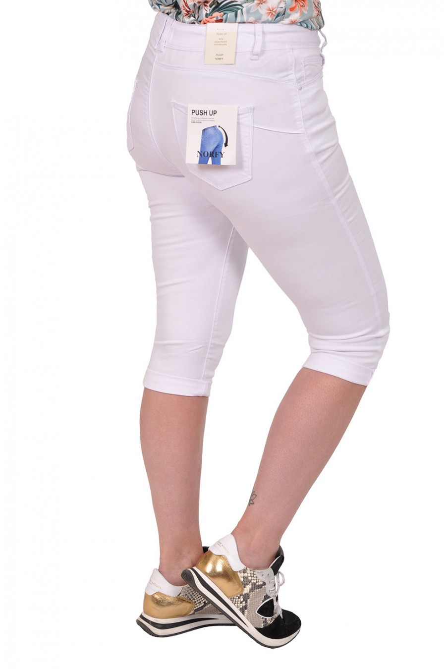 Norfy push up stretch capri wit Norfy