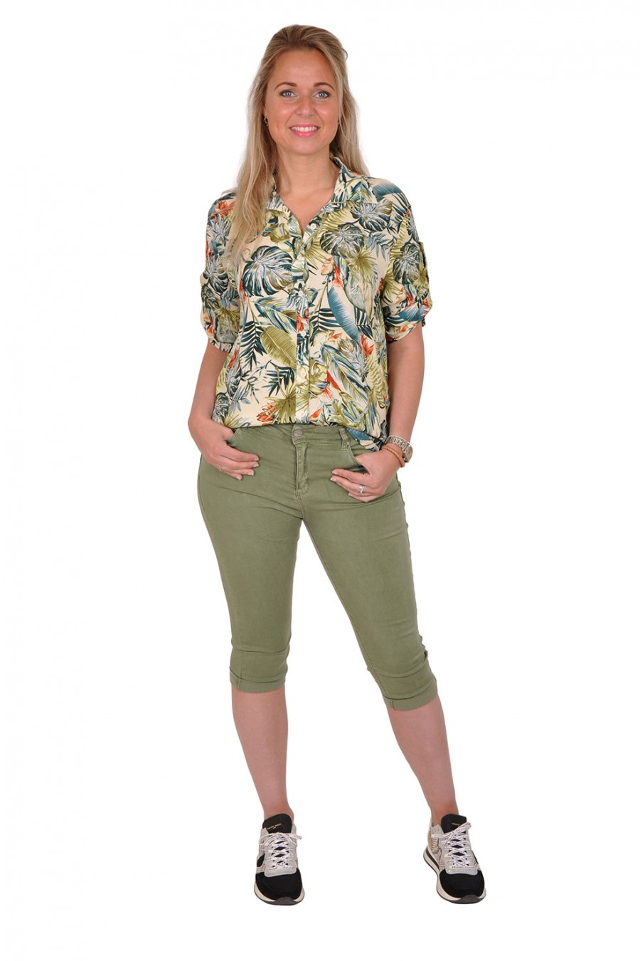 Norfy push up stretch capri army Norfy