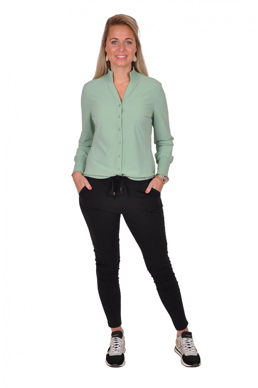 Travelstof smock blouse Bibi van Daelin avocado Daelin