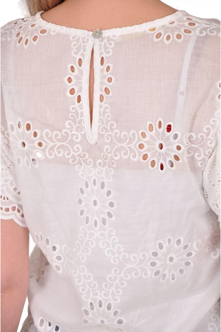 Broderie blouse korte mouwen Gemma Ricceri