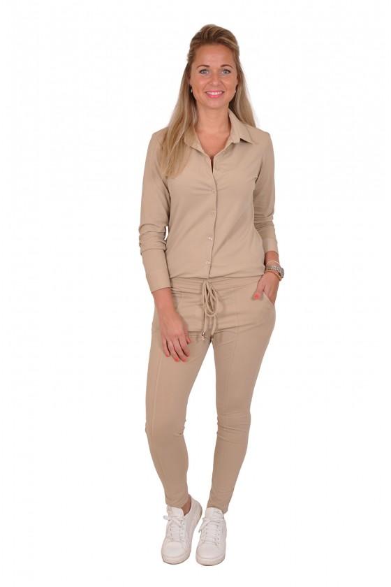 Travelstof blouse Vera Jo beige