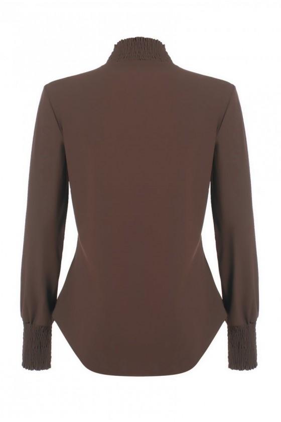 Travelstof smock blouse Bibi van Daelin bruin