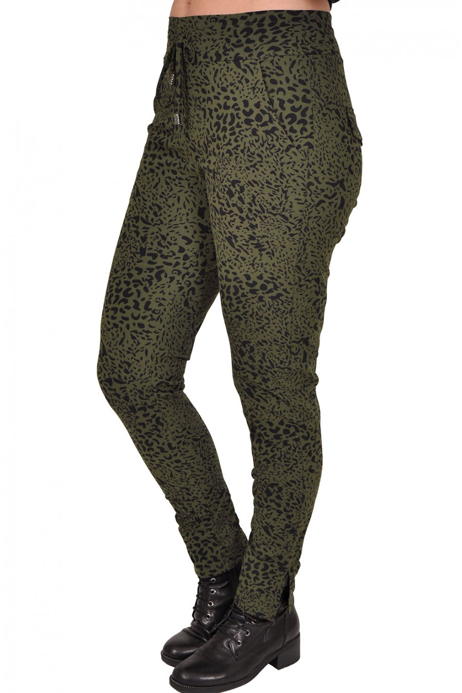 Travelstof broek army leopard Daelin Daelin
