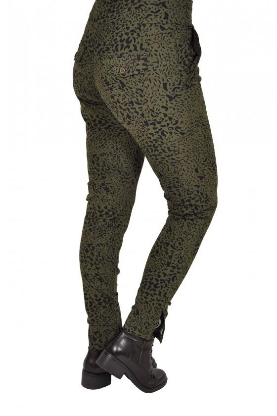 Travelstof broek army leopard Daelin