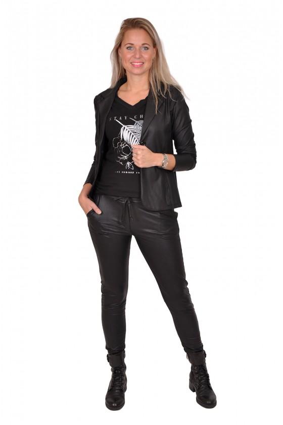 Travelstof leatherlook blazer van Triple Nine Triple Nine