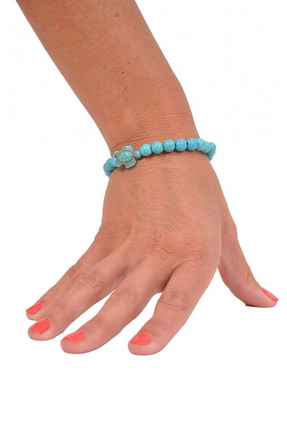 Armband natuursteen schildpad turquoise